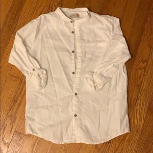 Zara Boys white linen shirt size 12